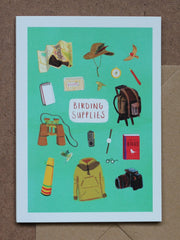 Birding Supplies Greetings card by Sarah Edmonds at What You Sow