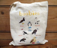 Boobies Tote bag by Sarah Edmonds at What You Sow