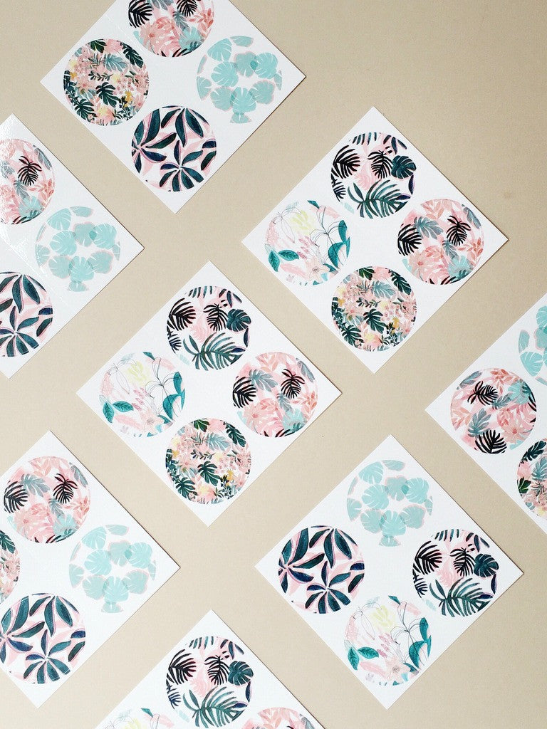Patterned plant sticker pack | Chloe Hall at What You Sow