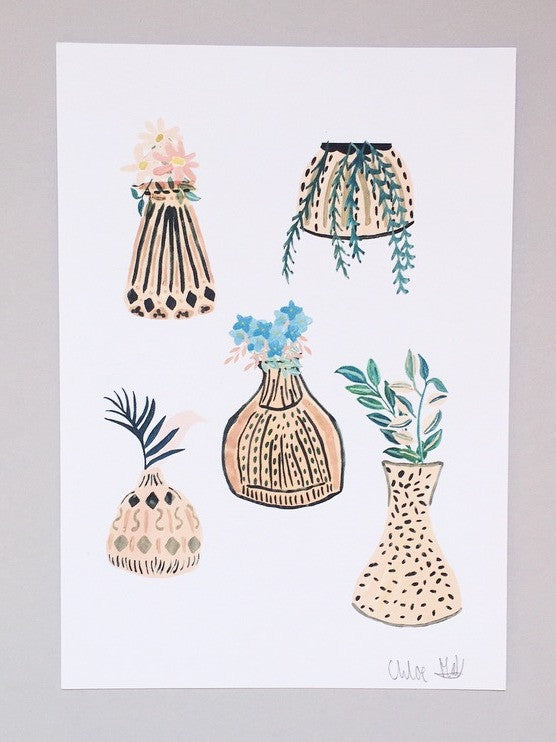 Vase A5 print | Chloe Hall at What You Sow