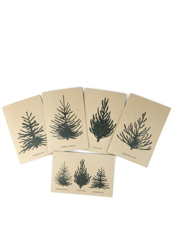 Christmas Tree cards - set of 10