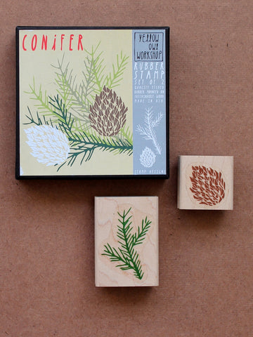 Yellow Owl Workshop Conifer Stamp set