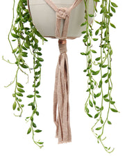 Recycled textile macramé plant hanger by Cocoon and me | What You Sow