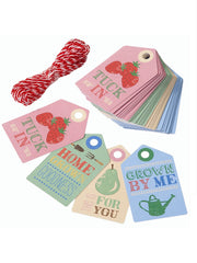 Home grown gift tags and twine from What You Sow