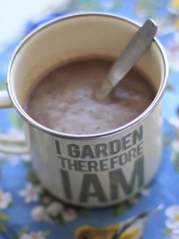 I Garden Therefore I am Enamel Mug