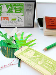 """From the garden of..."" Stamp activity Set by Yellow Owl Workshop"