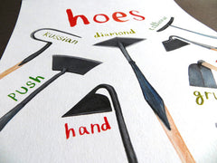 Hoes A4 Digital print by Sarah Edmonds at What You Sow