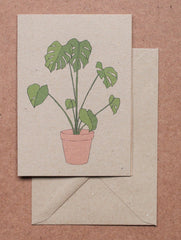 Houseplant cards (set of 4) by Kate Broughton at What You Sow