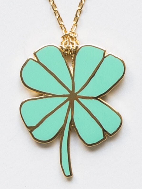 Lucky Clover Pendant by Yellow Owl Workshop at What You Sow