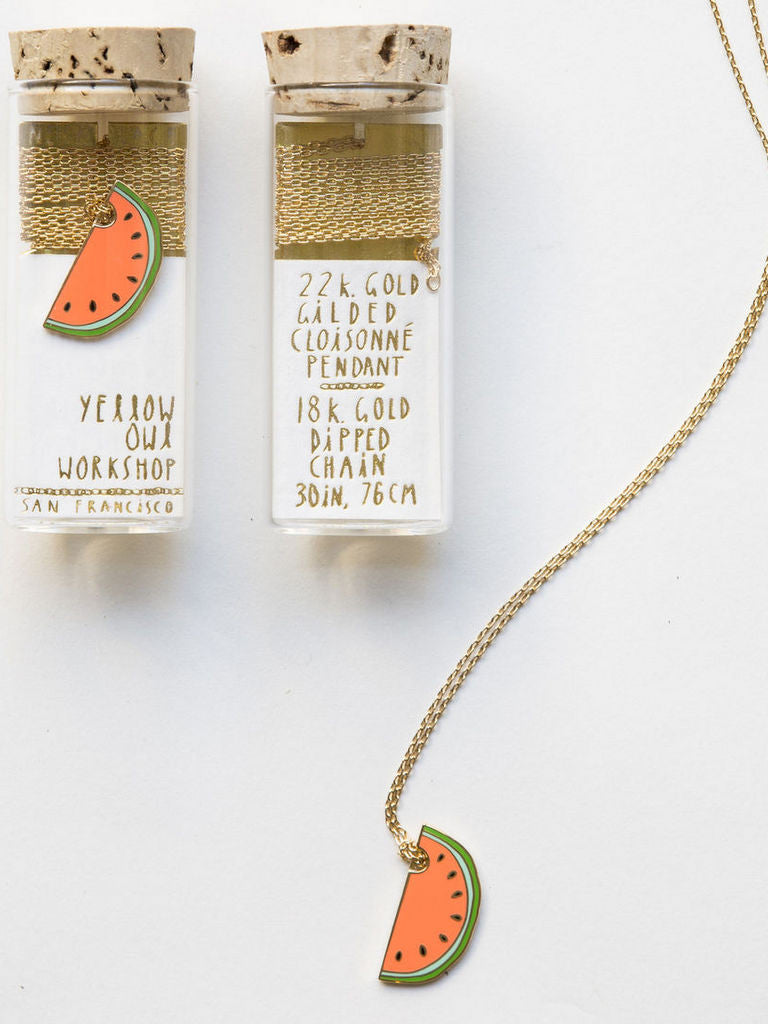 Watermelon Pendant by Yellow Owl Workshop