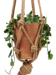 Chunky rope macramé plant hanger by Cocoon & me | What You Sow