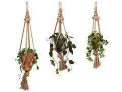 Chunky rope macramé plant hanger by Cocoon & me