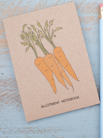 Carrot Allotment Pocket Notebook