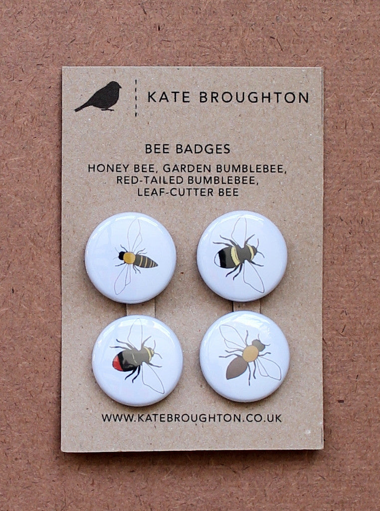 Kate Broughton Bee Badges at What You Sow