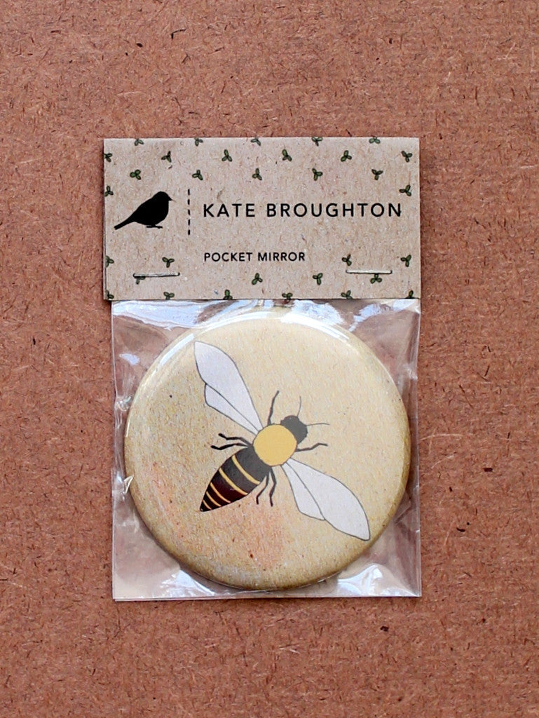 Kate Broughton Honey Bee mirror at What You Sow