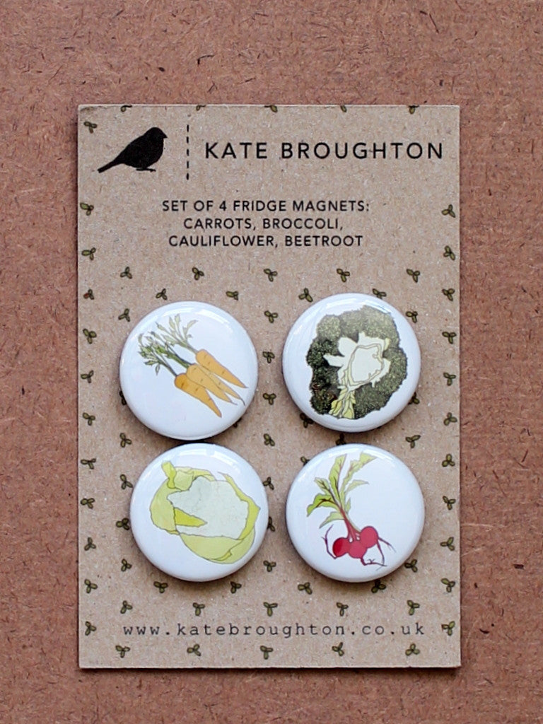 Kate Broughton Vegetable Fridge magnets at What You Sow