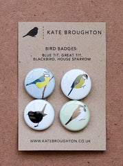Kate Broughton bird badges at What You Sow