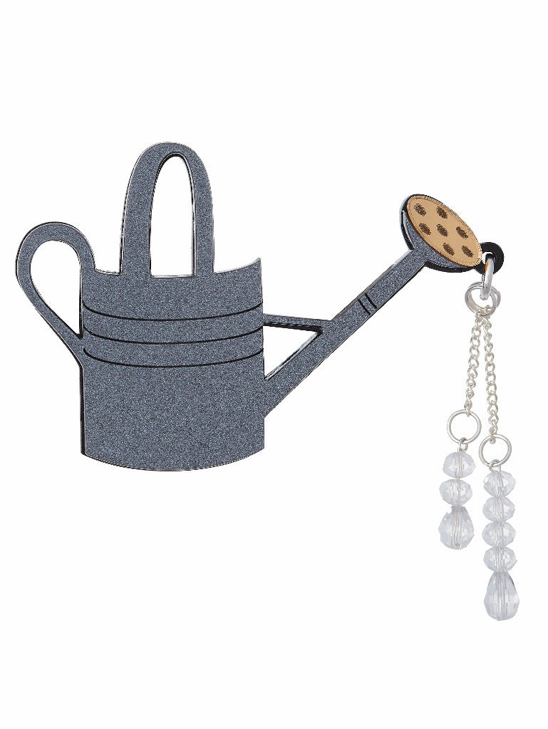 Watering Can Brooch by Lou Taylor at What You Sow