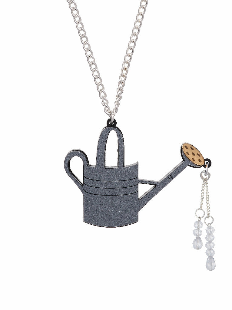 Watering Can Pendant necklace by Lou Taylor at What You Sow