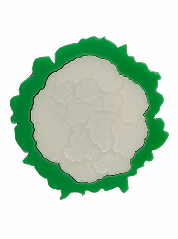 Cauliflower Brooch by Lou Taylor