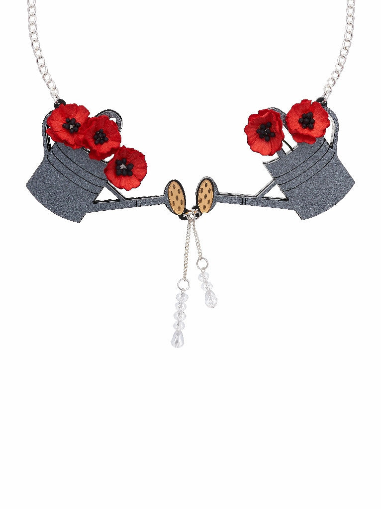 Watering Can Statement necklace by Lou Taylor at What You Sow