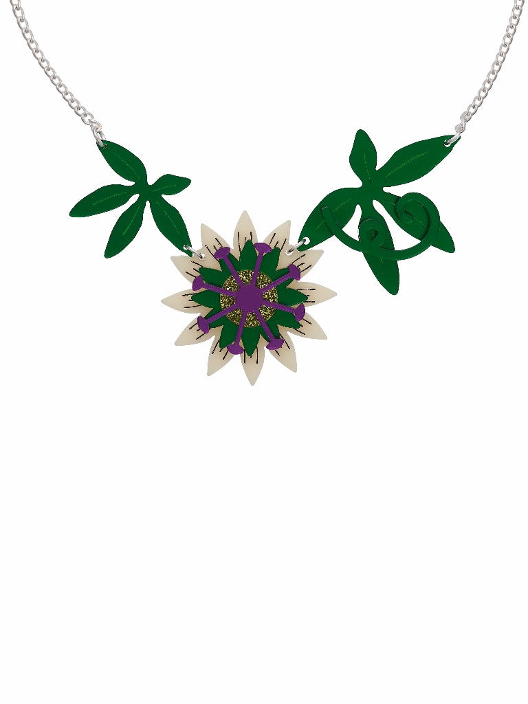 Passionflower necklace by Lou Taylor at What You Sow