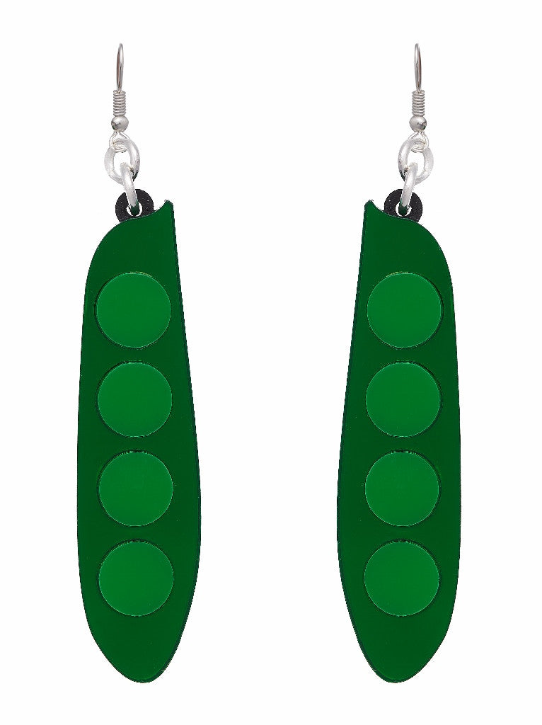 Pea Earrings by Lou Taylor at What You Sow