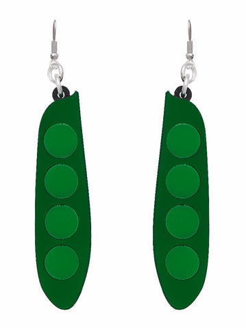 Pea Earrings by Lou Taylor