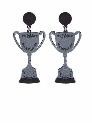 Silver Cup Earrings by Lou Taylor
