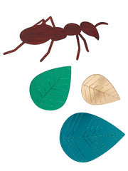 Ant and leaves Brooch set by Lou Taylor at What You Sow