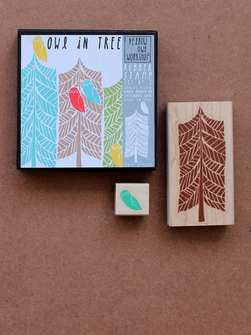 Owl in tree Stamp set by Yellow Owl Workshop