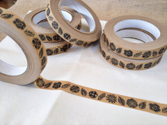 Lino Cut Flower Tape by Lucy Auge at What You Sow