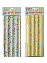 Paper Straws with flower print from What You Sow