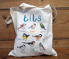 Tits tote bag by Sarah Edmonds at What You Sow