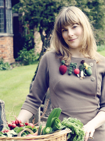 Fair Trade Five-a-day Vegetable Brooches