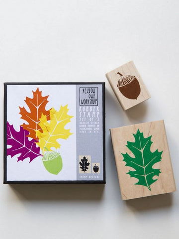 Oak Leaf and Acorn Stamp set by Yellow Owl Workshop