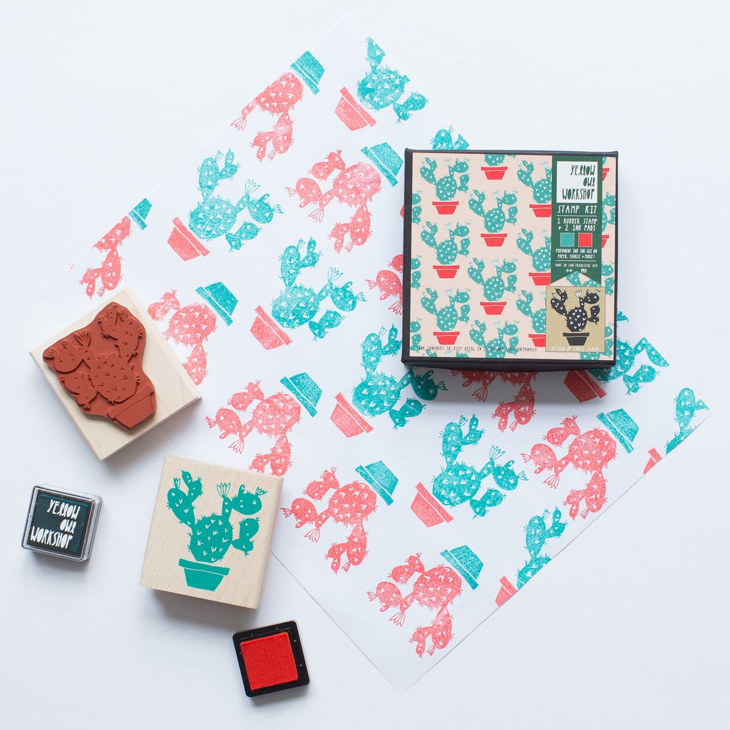 Cactus Pattern Stamp Set By Yellow Owl Workshop What You Sow