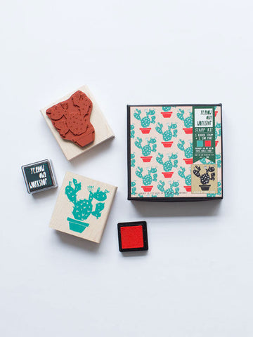 Cactus pattern stamp set by Yellow Owl Workshop