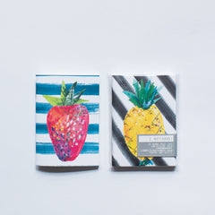 Set of 2 fruit notebooks by Yellow Owl Workshop