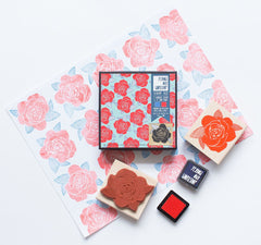 Rose pattern stamp set by Yellow Owl Workshop