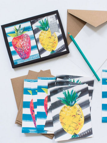 Fruit Thank You cards by Yellow Owl Workshop