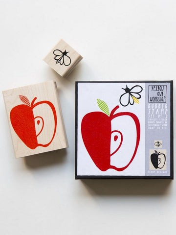 Apple and Honey Bee Stamp set by Yellow Owl Workshop