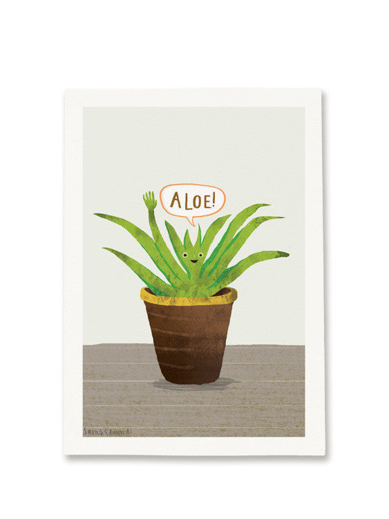 Aloe A5 Digital print by Sarah Edmonds at What You Sow