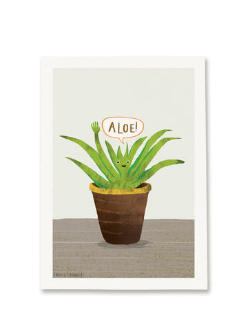 Aloe! Greetings card by Sarah Edmonds
