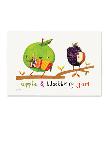 Digital A4 Print Apple & Blackberry Jam by Sarah Edmonds