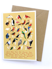 Avian Alphabet Greetings Card by Sarah Edmonds at What You Sow