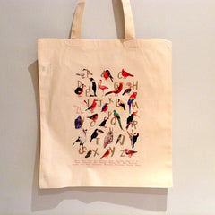Avian Alphabet Tote bag by Sarah Edmonds at What You Sow