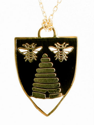 Honey Bee Pendant by Yellow Owl Workshop