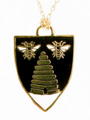 Honey Bee Pendant by Yellow Owl Workshop at What You Sow