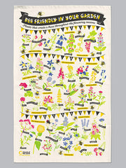 Stuart Gardiner Bee Friendly Tea Towel at What You Sow